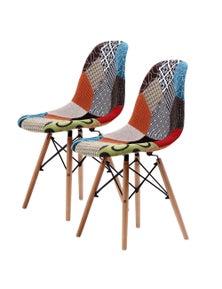 La Bella Multi Colour Eames DSW Dining Chair (2 Pcs)