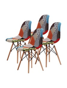La Bella Multi Colour Eames DSW Dining Chair (4 Pcs)