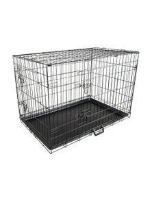 """Paw Mate 24"""" Foldable Metal Wire Dog Cage with Removable Tray"""