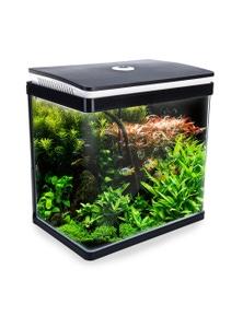 Dynamic Power Aquarium Curved Glass RGB LED Fish Tank 30L