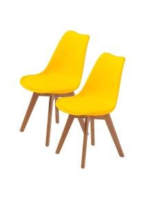 La Bella Eames PU Padded Dining Chair (2 Pcs)