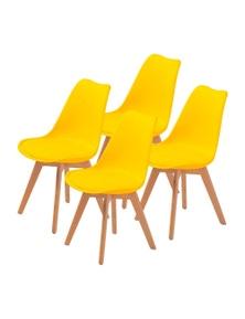 La Bella Eames PU Padded Dining Chair (4 Pcs)