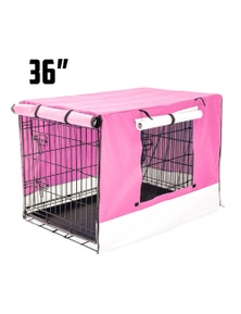 Paw Mate Foldable Metal Wire Dog Cage w/ Cover