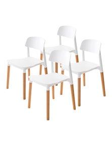 La Bella Stackable Dining Chairs Belloch (4 Pcs)