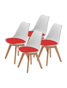 La Bella Eames PU Padded Dining Chair (Set Of 4)