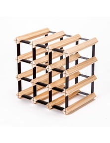Home Ready 12 Bottle Timber Wine Rack
