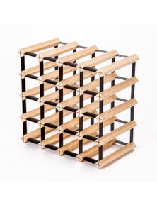 Home Ready 20 Bottle Pine Wood Timber Wine Rack