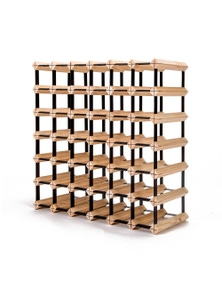 Home Ready 42 Bottle Pine Wood Timber Wine Rack