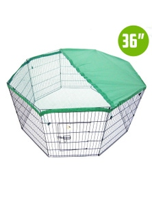 "Paw Mate 8 Panel Foldable Pet Playpen 36"" W/ Cover"