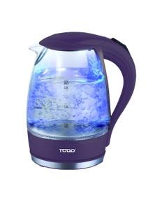 TODO 1.7L Glass Cordless Kettle 2200W Blue LED Light Kitchen Water Jug - Purple
