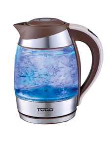 TODO 1.8L Temperature Control Glass Cordless Kettle 2200W Led Water Jug - Coffee