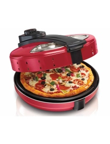 TODO 1200W Electric Pizza Maker 30cm 360 Degree Rotating Base Plate - Red