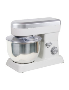 TODO 1200W Electric Stand Mixer 6.2L Stainless Steel Bowl 10 Speed - White