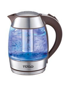 TODO 1.8L Glass and Stainless Steel Cordless Kettle 2200W - Coffee Colour
