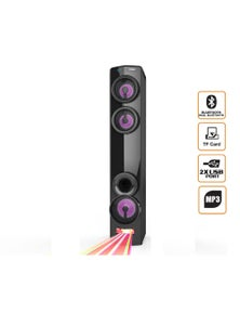 TODO Bluetooth Tower Speaker LED DJ Light Mode Dual Bluetooth USB Microsd AUX Mp3