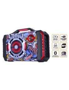 "TODO Bluetooth 6.5"" + 2"" Active Speaker System Boom Box Dual Bluetooth USB DJ PA LED Light"