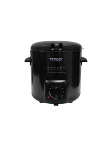 TODO 0.9L Deep Fryer Stainless Steel Housing Adjustable Thermostat Dial Basket