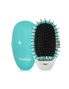 Ionic Styling Hair Brush and Straightener with Stainless Steel Bristles