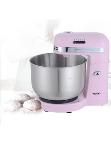 TODO 350W 5 Speed Electric Stand Mixer With 3.5L Stainless Steel Bowl Retro - Pink