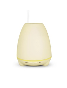 100Ml Humidifier Aromatherapy Diffuser 7 Colour Led Compact Design - White