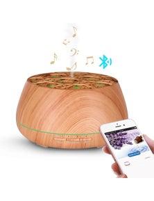 400Ml Bluetooth Humidifier Aromatherapy Diffuser Ultrasonic Led Speaker Dome - Woodgrain