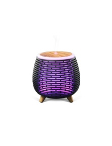 100Ml Humidifier Aromatherapy Diffuser 7 Colour Led Ultrasonic Mist - Black