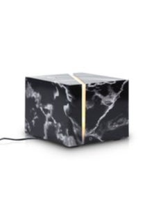 200Ml Marble Grain Aromatherapy Diffuser Aroma Diffuser Ultrasonic Led Humidifier - Black