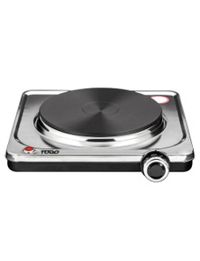 TODO 1500W Portable Hotplate Electric Cooktop - Single Plate Stainless Steel