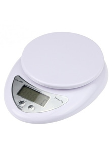 5Kg Kitchen Scale Lcd Display 1G Graduation Kitchen Jewelry - White