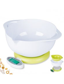 5Kg Kitchen Scale With 2 Bowl Lcd Display 1G Graduation Medicinal Tray Platform Scale