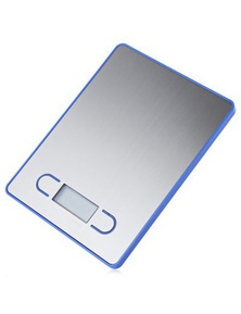 5Kg Stainless Steel Electronic Kitchen Scale 1G Graduation Backlit Lcd - Blue
