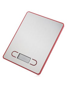 5Kg Stainless Steel Electronic Kitchen Scale 1G Graduation Backlit Lcd - Red