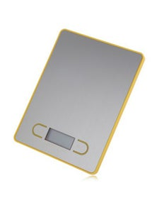 5Kg Stainless Steel Electronic Kitchen Scale 1G Graduation Backlit Lcd - Yellow