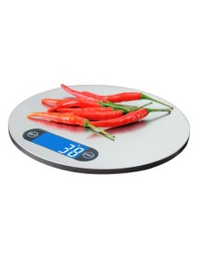 5Kg Stainless Steel Electronic Kitchen Scale 1G Graduation Blue Backlit Lcd