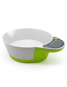 5Kg Kitchen Scale Bowl Lcd Display 1G Graduation Tray Platter Scale Scale - Green