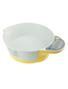5Kg Kitchen Scale Bowl Lcd Display 1G Graduation Tray Platter Scale Scale - Yellow