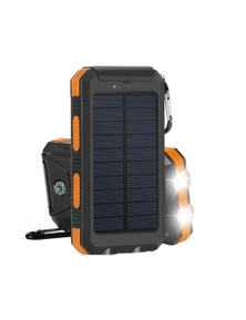 TODO 8000Mah Solar Power Bank Mobile Phone Usb Iphone Charger Led Torch