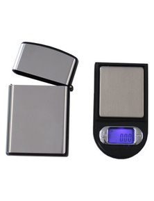 Mini Digital Electronic Pocket Scale 100G - 0.01G Tare Backlit Lcd With Steel Case