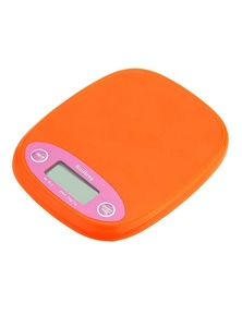 3Kg Electronic Kitchen Scale 0.1G Graduation Green Backlit Lcd Baking Medical - Orange