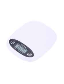 3Kg Electronic Kitchen Scale 0.1G Graduation Green Backlit Lcd Baking Medical - White