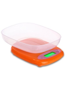 7Kg Electronic Kitchen Scale With Bowl 1G Graduation Backlit Lcd Baking - Orange