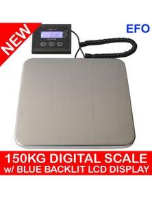 150Kg Digital Postal Scale With Blue Backlit Lcd Display 50G Graduation