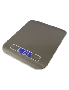 Stainless Steel Electronic Kitchen Scale Backlit Lcd 5Kg Capacity