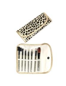7 Piece Professional Makeup Brush Set + Carry Case