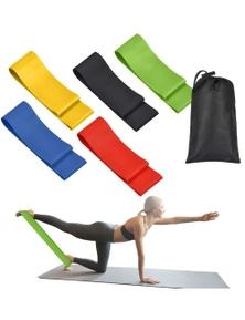 Pilates and Yoga Loop Resistance Band 5 Set + Bag