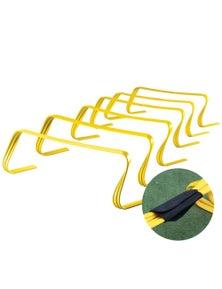 "Agility Hurdles Sport Fitness Training Equipment Ultra Durable Set of 6 - 6"""