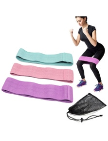 3 Piece Hip Loop Exercise Resistance Band - 3 Resistance Levels