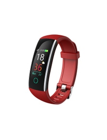 "Bluetooth V4.0 Fitness Band Watch Heart Rate Blood Pressure IP68 0.96"" OLED"