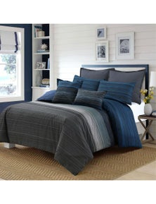 Amsons Stripe Quilt cover With 1 pillowcase