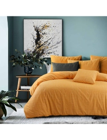 Amsons Raw Amber Quilt Cover With 2 Pillowcases